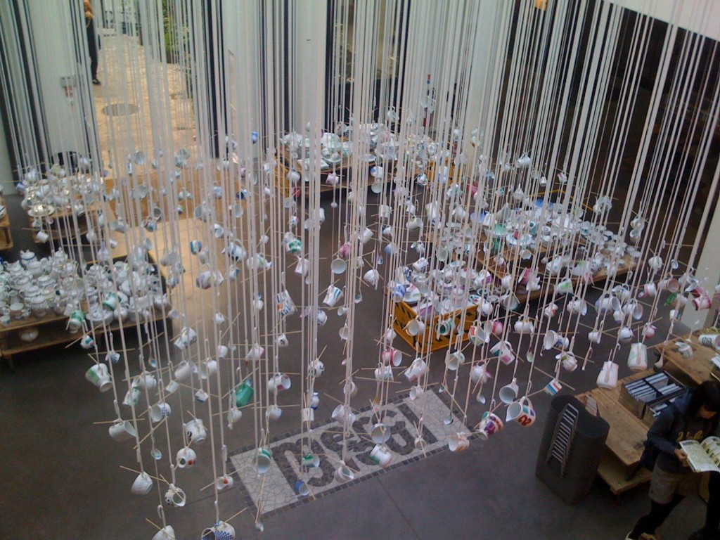 hanging cups from top